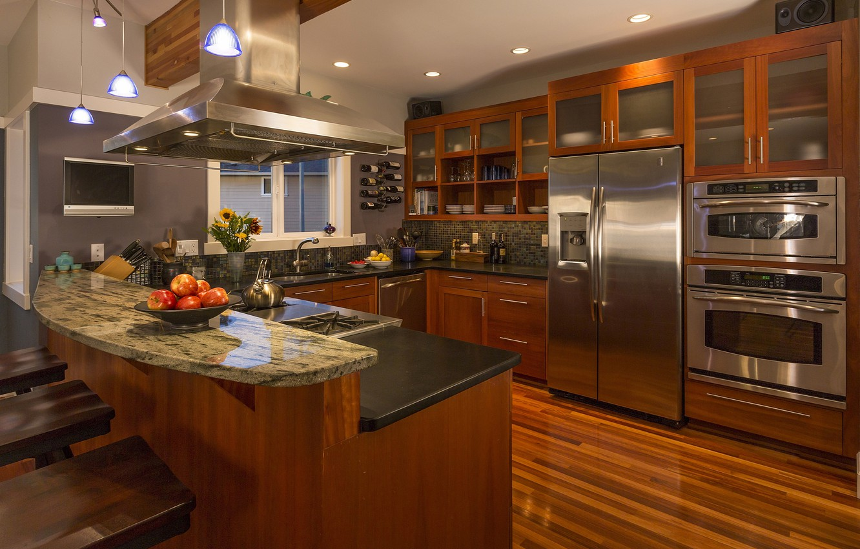 Фото обои дизайн, интерьер, кухня