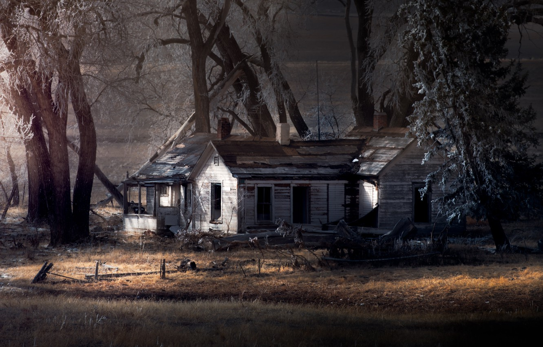Фото обои деревья, природа, дом
