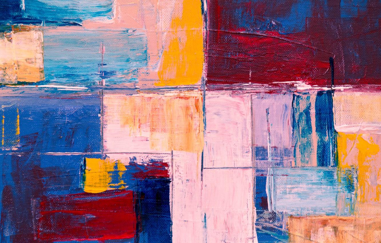 Фото обои Red, Blue, Paint Background, Yelow, Steve John