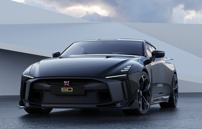 Фото обои Nissan, Black, GT-R50