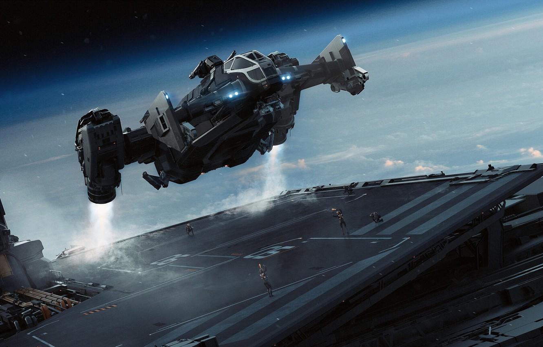Фото обои spaceship, Science Fiction, star citizen