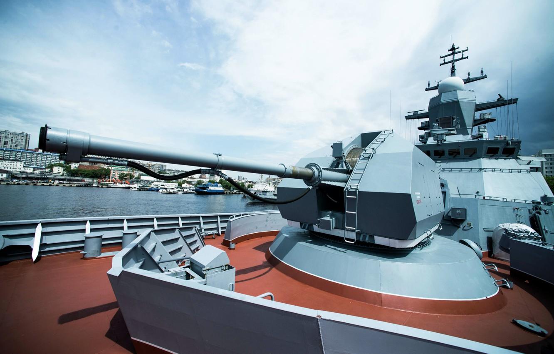 Фото обои установка, корвет, артиллерийская, Совершенный