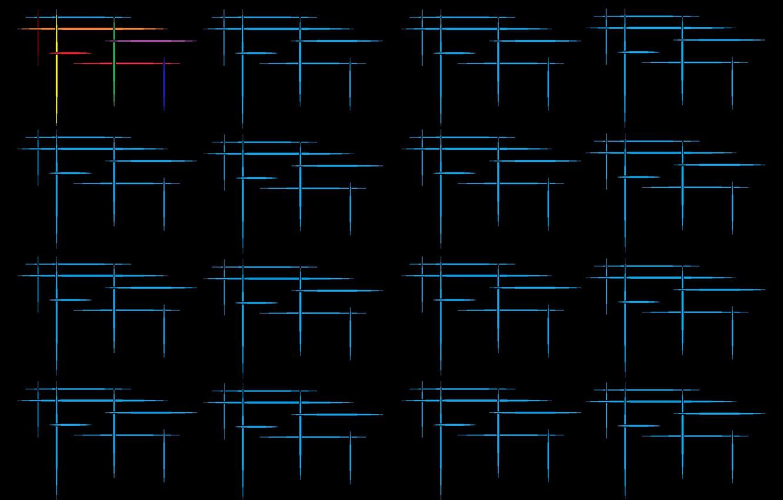 Фото обои текстура, штрихи, чёрный фон, векторная графика