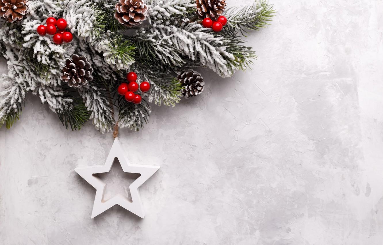 Фото обои снег, Новый Год, Рождество, star, Christmas, snow, New Year, decoration, Happy, Merry, fir tree, ветки …