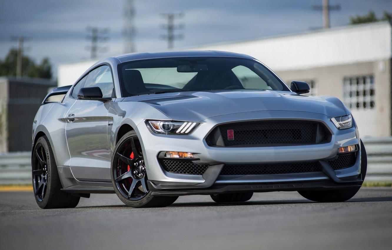 Фото обои асфальт, серый, Mustang, Ford, Shelby, GT350R, 2020