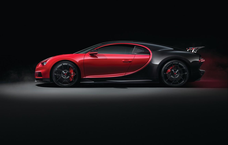 Фото обои Bugatti, вид сбоку, 2018, Sport, Chiron