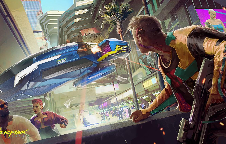 Фото обои будущее, киберпанк, rpg, видеоигра, video game, night city, CD Projekt RED, Cyberpunk 2077, Cyberpunk, CD …