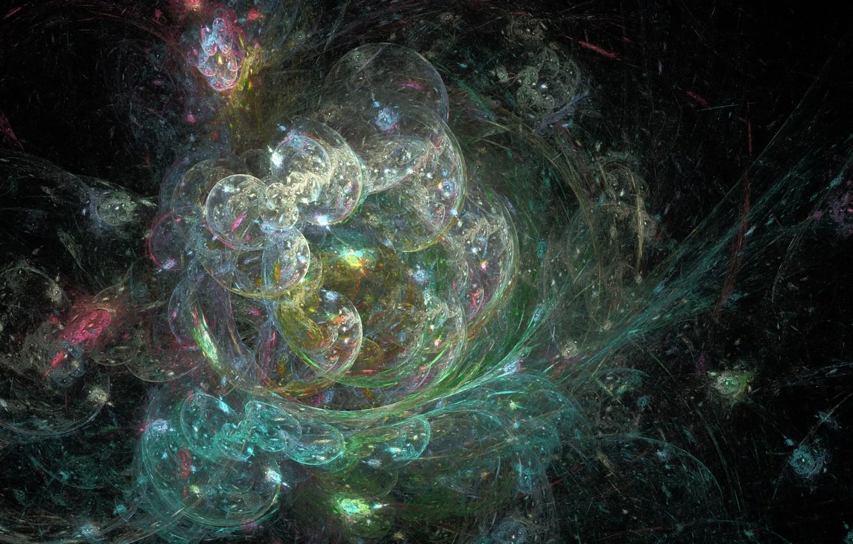 Фото обои движение, фракталы, планеты, хаос, скопление, chaos, сферы, spheres, planets, fractals, motion, рождение вселенной, birth of …