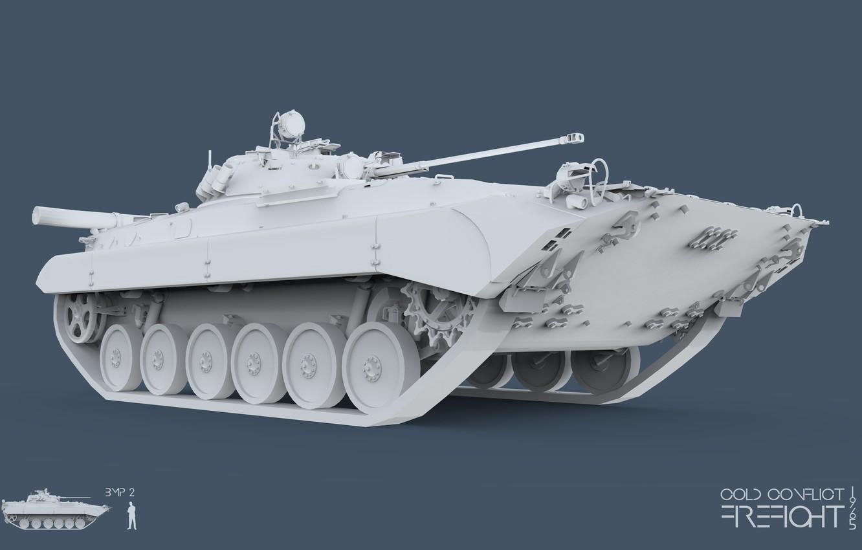 Фото обои 3ds max, CC Firefight 1985, keyshot, cold conflict, Firefight 1985, BMP 2, БМП 2