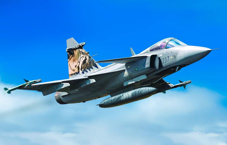 Обои истребитель, gripen, многоцелевой, Saab jas 39. Авиация foto 8