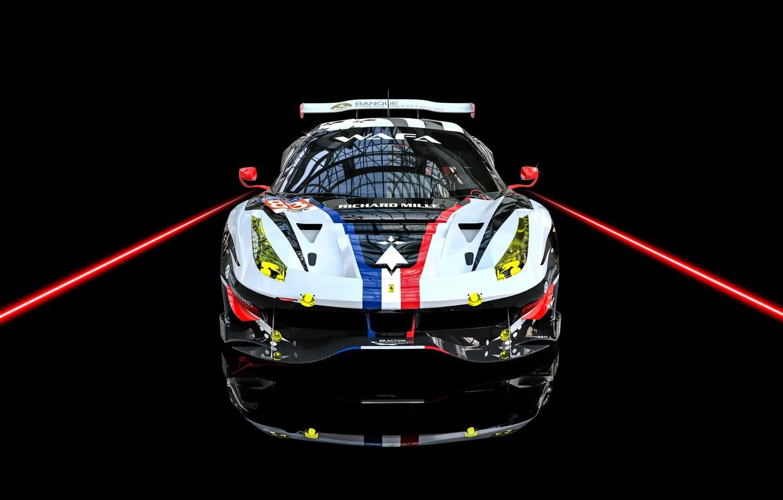 Фото обои Авто, Машина, Car, Render, Суперкар, Supercar, FIA, Ferrari 488, Racecar, Transport & Vehicles, Benoit Fraylon, …