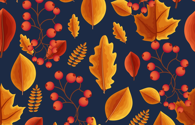 Фото обои осень, листья, фон, colorful, background, autumn, pattern, leaves, осенние, seamless