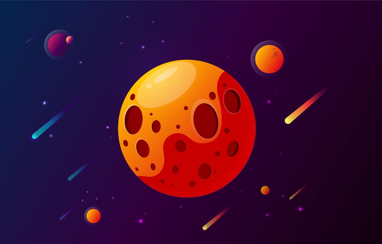 Фото обои космос, звезды, минимазилм