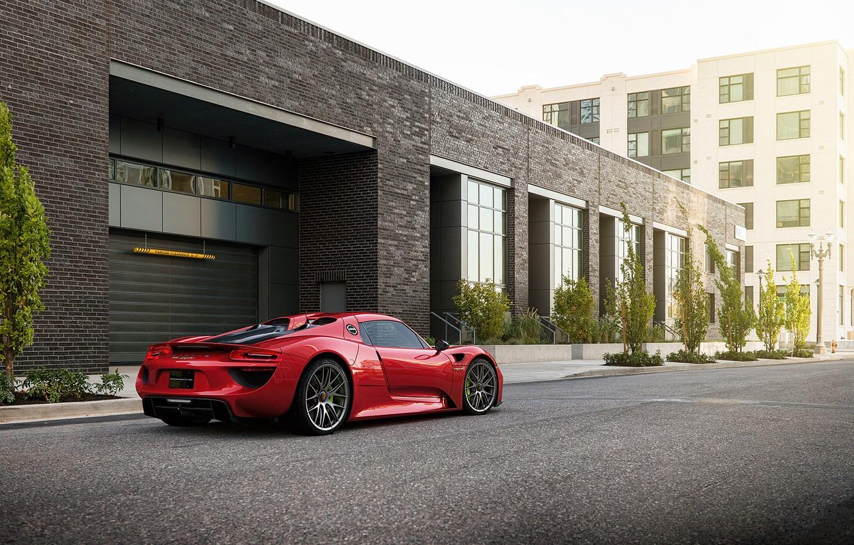Фото обои Красный, Авто, Porsche, Машина, Car, 918, Рендеринг, Porsche 918, Transport & Vehicles, Sergey Poltavskiy, by ...