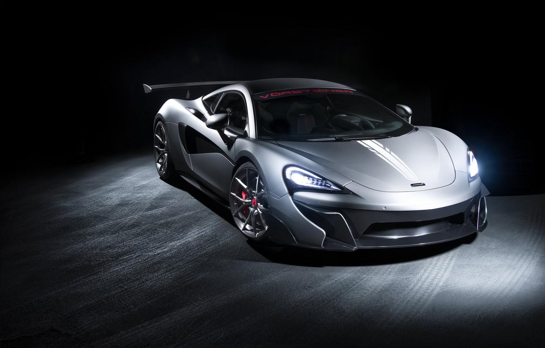 Фото обои McLaren, Light, Gray, Sight, LED, 570S
