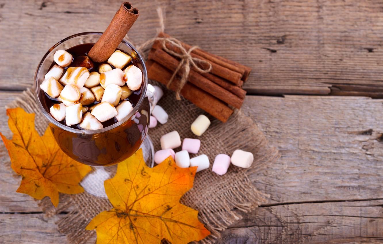 Фото обои осень, листья, фон, доски, colorful, корица, клен, wood, background, autumn, leaves, какао, осенние, cinnamon, maple, …