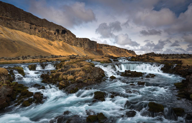 Фото обои Vestur-Skaftafellssysla, Southern Iceland, Cascading River