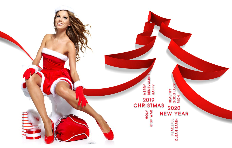 Фото обои happy new year, merry christmas, 2020, 2019