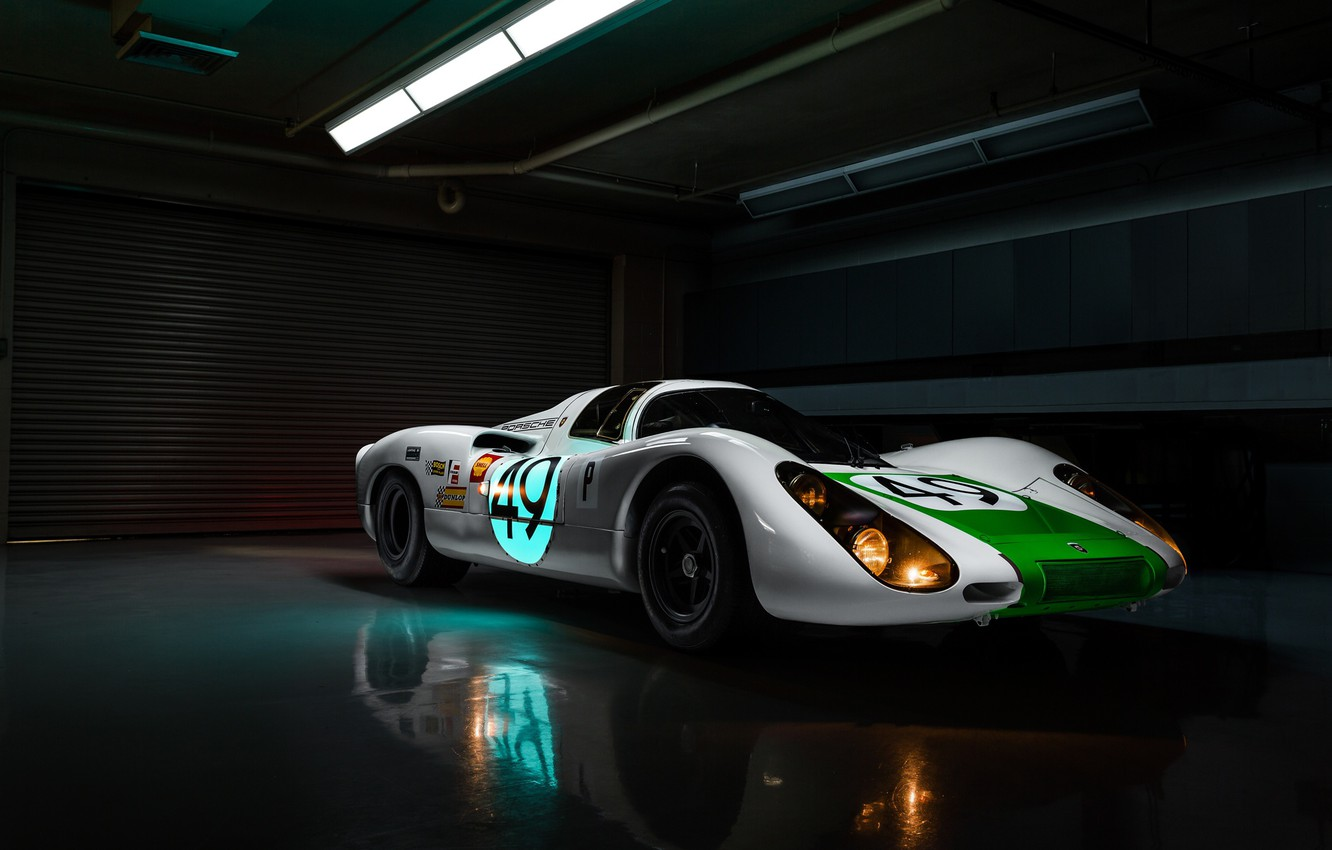 Фото обои lights, Porsche, racing car, Jeremy Cliff, Porsche 907, 907