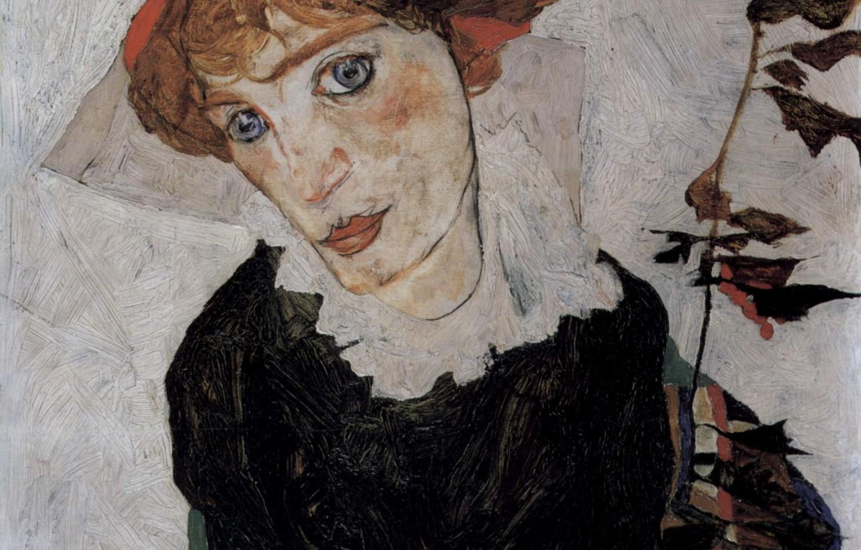 Фото обои Портрет, 1912, Эгон Шиле, Валери Нойцель