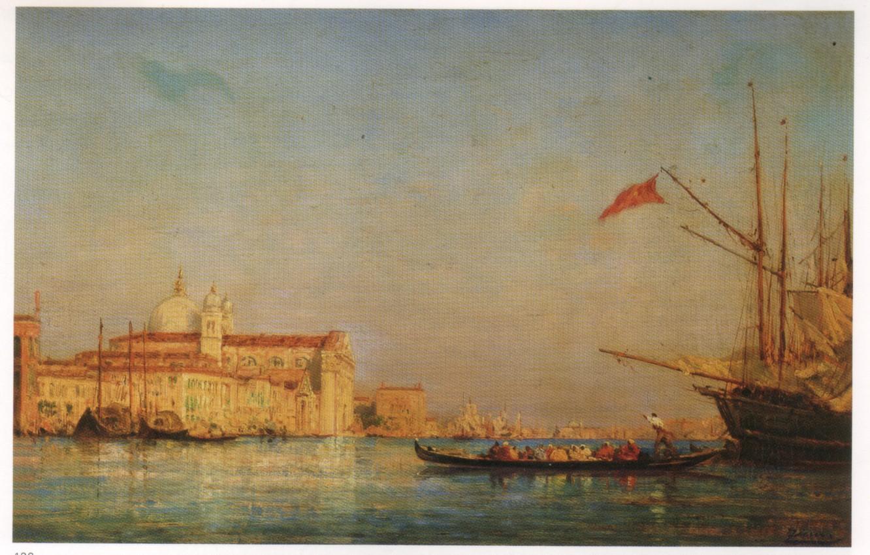 Фото обои VENICE, The Giudecca, Felix Ziem Oil Paintings, ZIEM, Venice Oil Painting