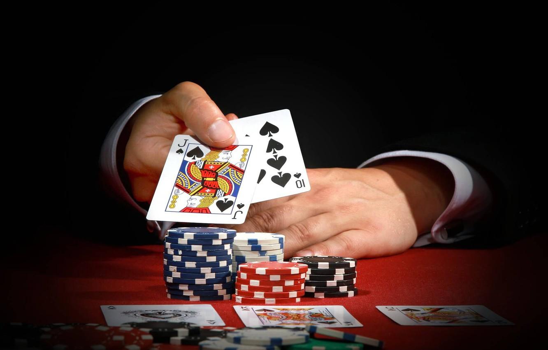 Фото обои карты, покер, казино, выигрыш