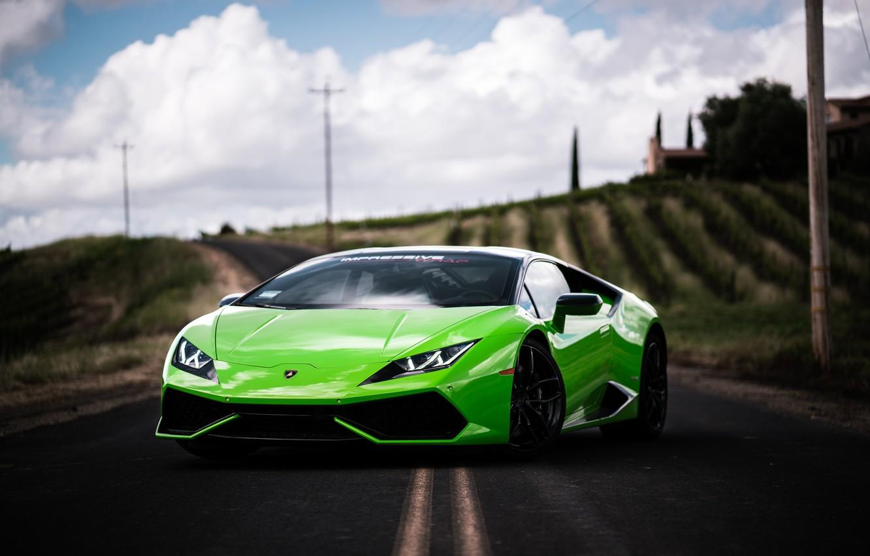 Фото обои Lamborghini, Green, VAG, Huracan