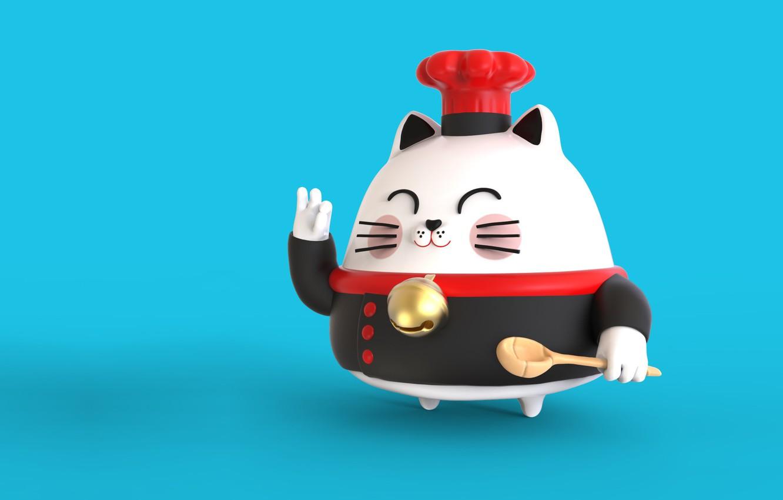 Фото обои арт, ложка, повар, шеф, Sensei Cat, Pablo Susskind