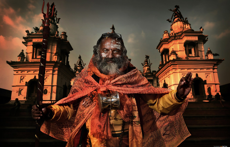 Фото обои город, мужчина, индия