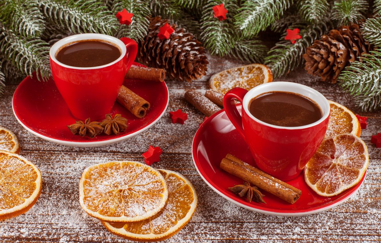 Фото обои снег, украшения, сердце, Новый Год, Рождество, Christmas, heart, wood, winter, snow, cup, New Year, coffee, …