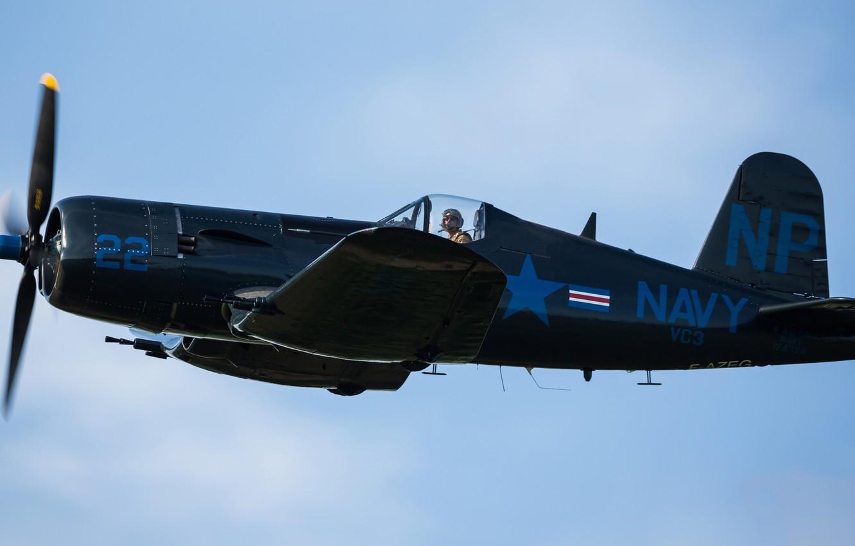 Обои Вторая мировая, F4u corsair, chance vought. Авиация foto 9