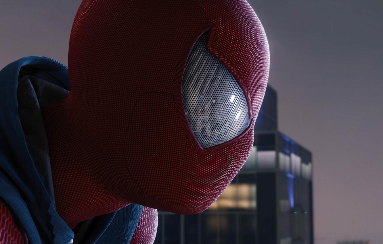 Фото обои задумчивость, город, Фильм, sky, evening, Marvel, movie, Spider-Man, Человек-Паук, Человек-паук: Через вселенные, Spider-Man: Into the …