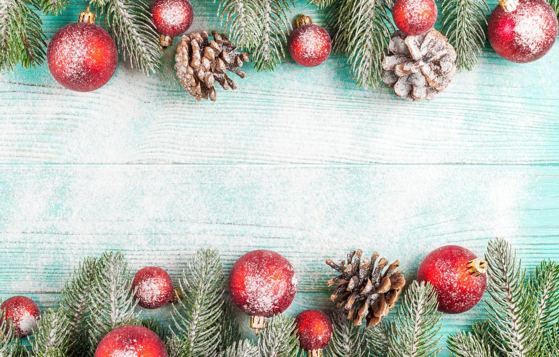 Фото обои украшения, шары, Новый Год, Рождество, Christmas, balls, шишки, wood, snow, merry, decoration, New year, fir …
