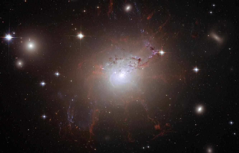 Фото обои Хаббл, Космос, Вселенная, Галактики, NGC 1275