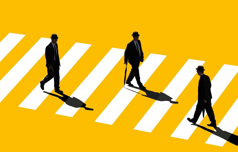 Фото обои улица, человек, цвет