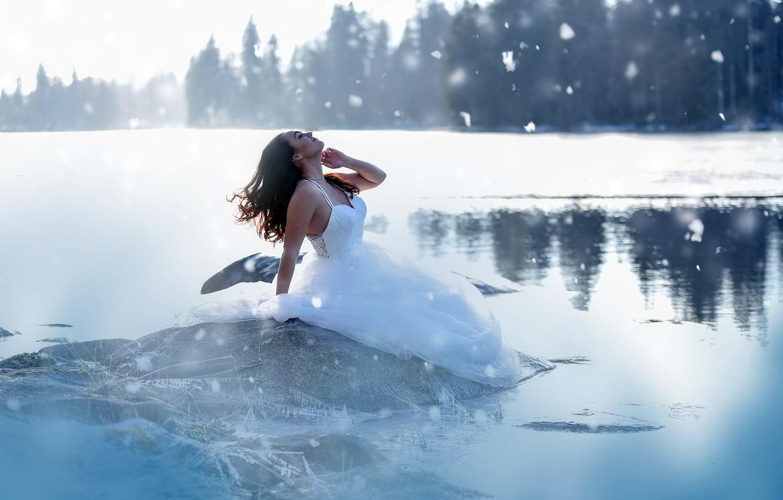 зимняя фотосессия на озере была первой
