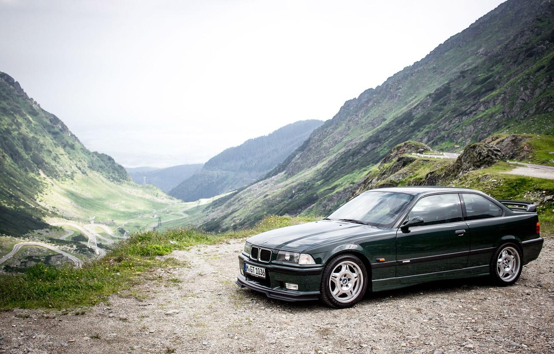 Фото обои зеленый, 1995, BMW M3 GT