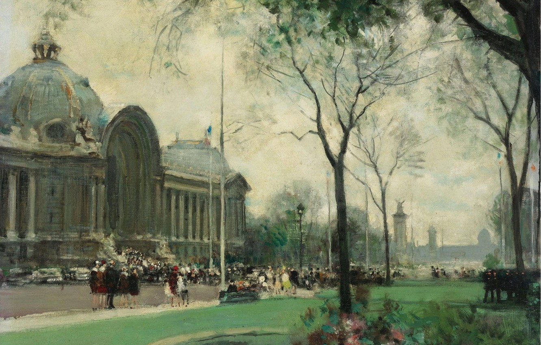 Фото обои картина, городской пейзаж, Малый Дворец. Париж, Жюль Рене Эрве, Jules Rene Herve