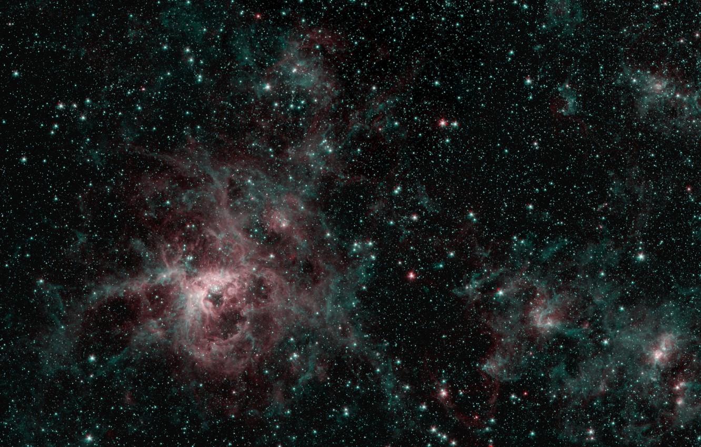 Фото обои звёзды, скопления, эмиссионная туманность, Тарантул, NGC 2070, БМО, LMC, Большое Магелланово Облако, Large Magellanic Cloud, …