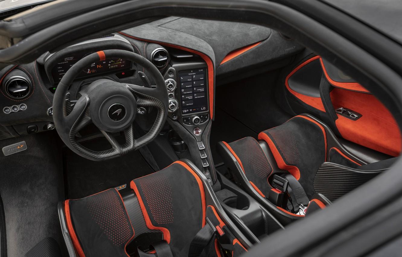 Фото обои McLaren, интерьер, 2020, 765LT