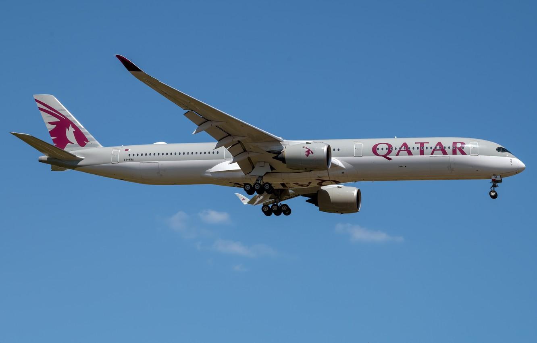 Фото обои Airbus, Qatar Airways, A350-1000