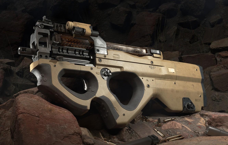 Фото обои оружие, weapon, render, пистолет пулемёт, smg, mashin pistol, P20