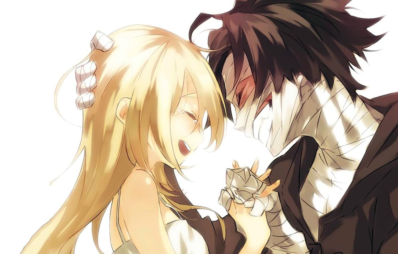 Фото обои девушка, радость, парень, двое, Ангел кровопролития, Satsuriku no Tenshi
