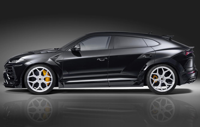 Фото обои Lamborghini, кроссовер, Urus, Novitec, 2019, вид с