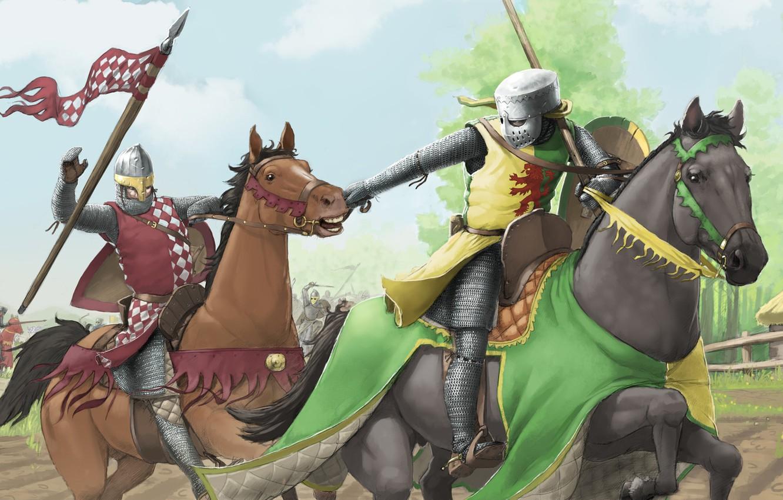 Обои доспехи, Рыцарь, лошадь. Разное foto 19