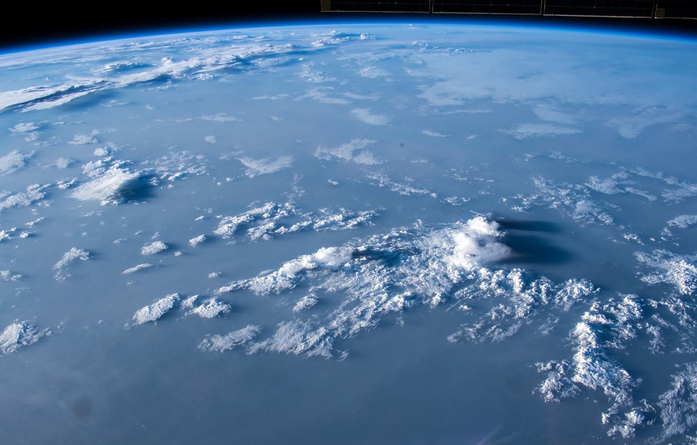 Фото обои облака, купол, плоская земля