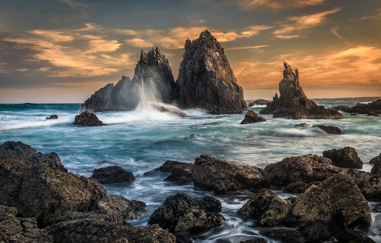 Фото обои океан, скалы, Австралия