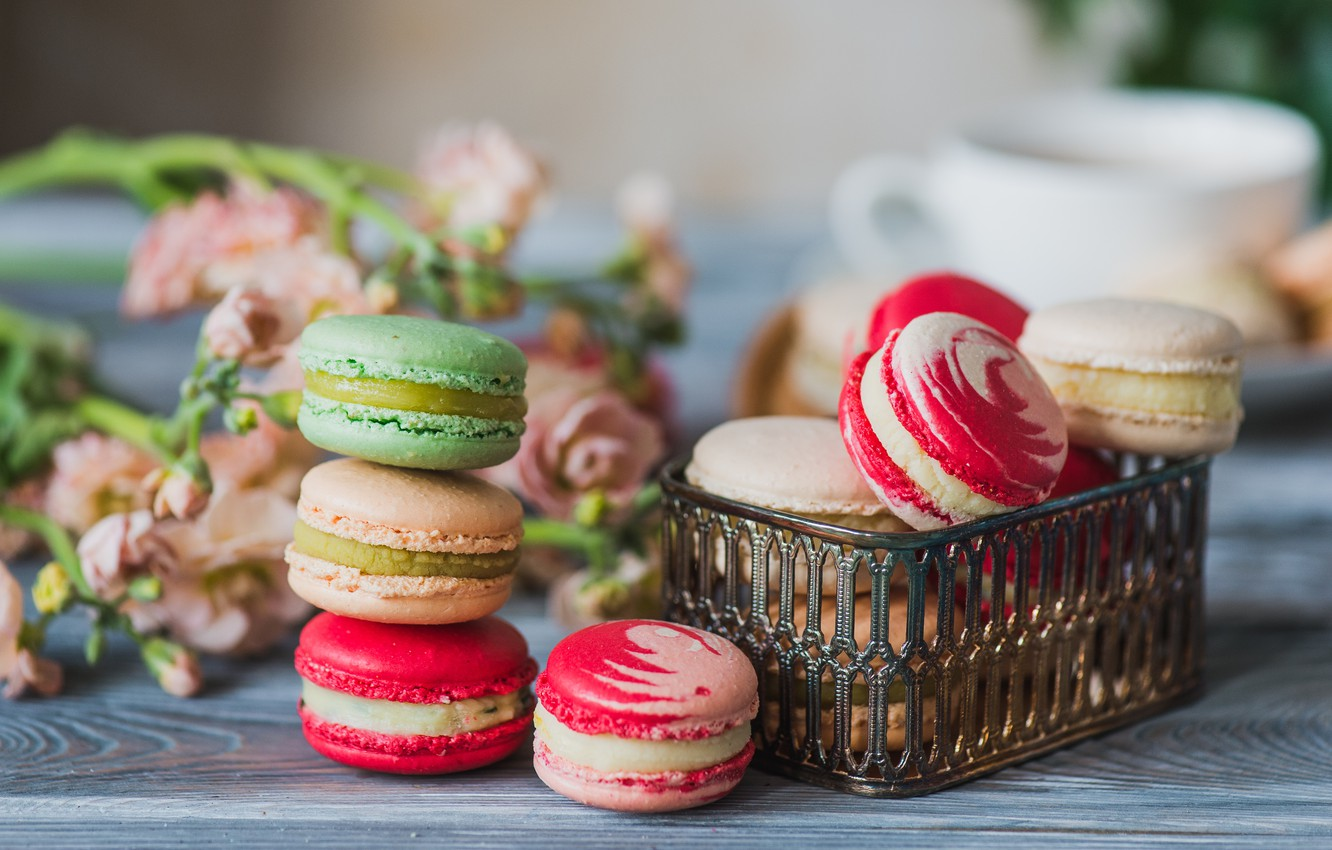 Фото обои colorful, печенье, macarons