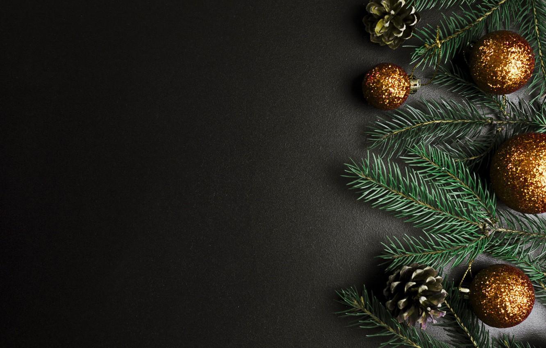 Фото обои шары, елка, Новый Год, Рождество, Christmas, balls, New Year, decoration, Merry, fir tree, ветки ели