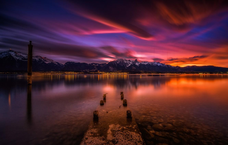 Фото обои Switzerland, Bern, Swiss Alps